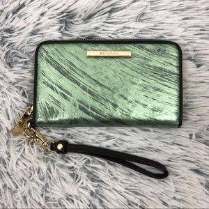 BRAHMIN Suri wallet/ wristlet emerald iridescent
